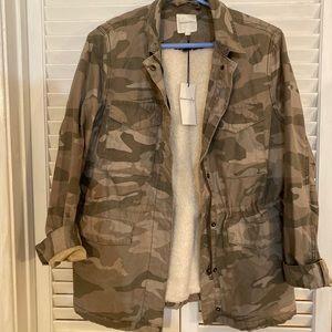 Camo Sherpa lined jacket